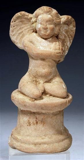 49: Hellenistic Molded Pottery Figure of Eros