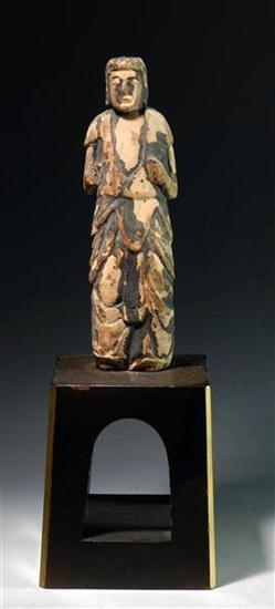 92: Rare Early Japanese Wooden Buddha