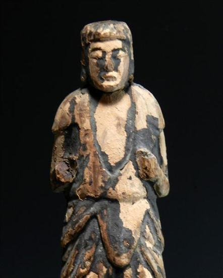 92: Rare Early Japanese Wooden Buddha - 2