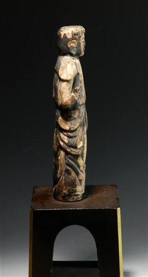 92: Rare Early Japanese Wooden Buddha - 3