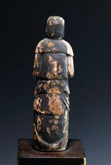 92: Rare Early Japanese Wooden Buddha - 4