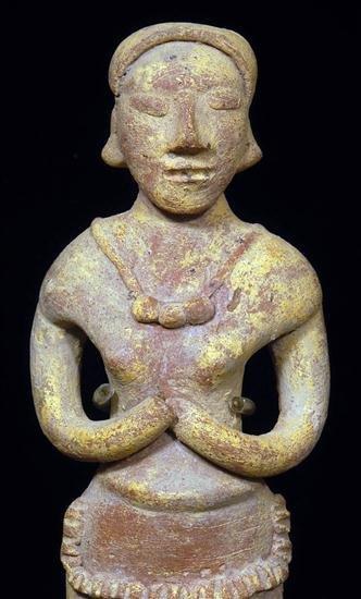121: A Colima Autlan Effigy Standing Figure