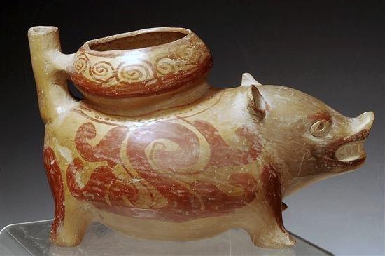 145: A Pre Columbian Huastec Pottery Pig Vessel