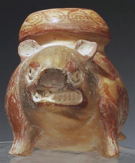 145: A Pre Columbian Huastec Pottery Pig Vessel - 2