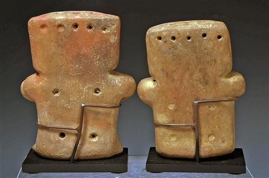 147: A Quimbaya Miniature Retablo Seated Couple - 2