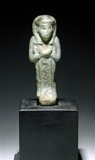 15A: An Egyptian Glazed Faience Ushabti