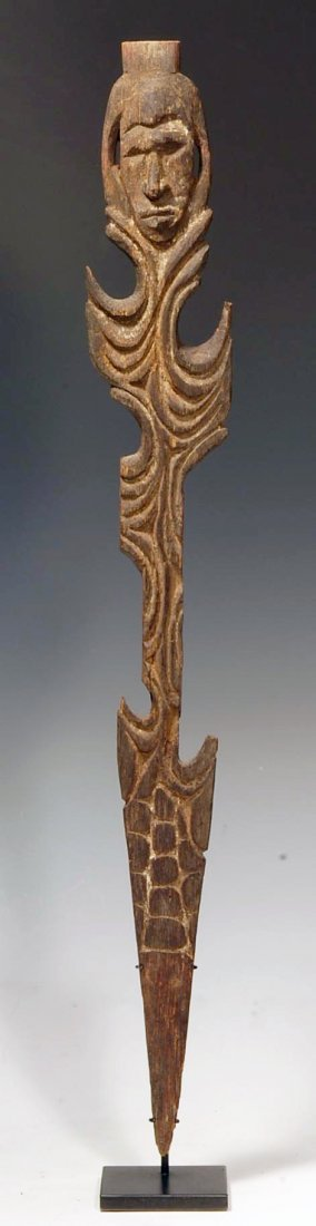 194: An Oceanic Middle Sepik Figurative Wood Spear Tip
