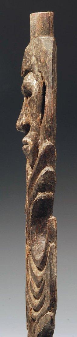 194: An Oceanic Middle Sepik Figurative Wood Spear Tip - 4