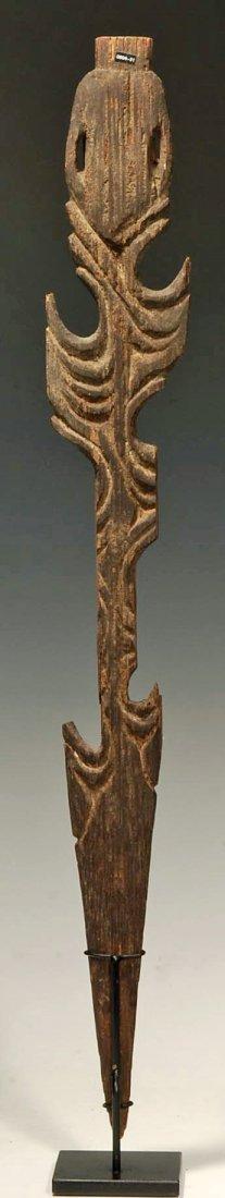 194: An Oceanic Middle Sepik Figurative Wood Spear Tip - 5