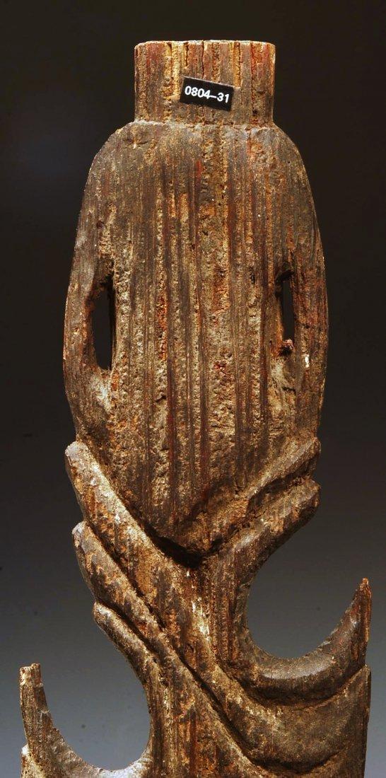194: An Oceanic Middle Sepik Figurative Wood Spear Tip - 6
