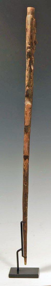 194: An Oceanic Middle Sepik Figurative Wood Spear Tip - 7