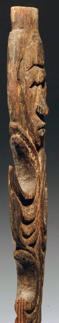 194: An Oceanic Middle Sepik Figurative Wood Spear Tip - 8