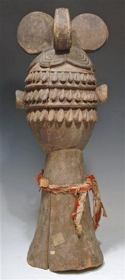 197: An African wood carved Ibo or Idoma Dance Crest - 4