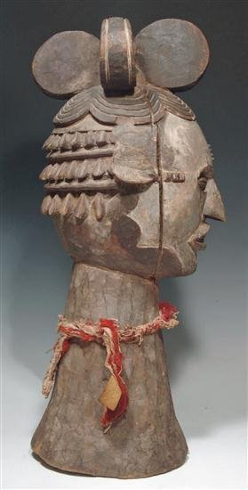 197: An African wood carved Ibo or Idoma Dance Crest - 5