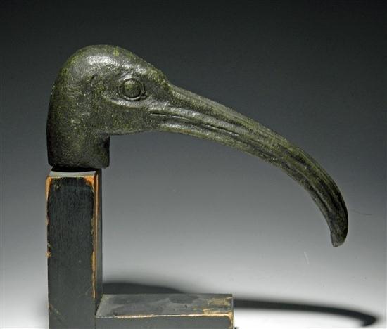 14B: An Egyptian Bronze Head of an Ibis