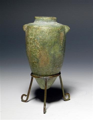 10A: A Rare Egyptian Faience Amphora - Near Miniature!
