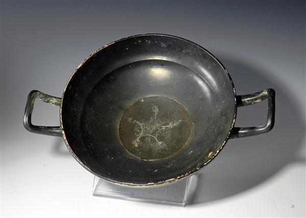 31B: A Greek Blackware Footed Kylix