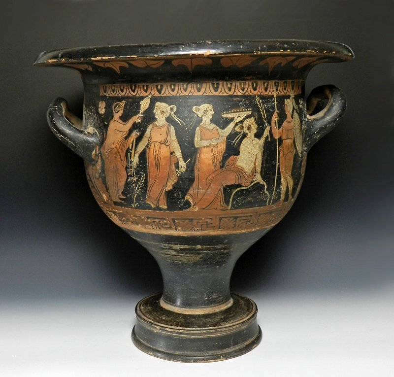 31C: A Greek Campanian Red-Figure Bell Krater