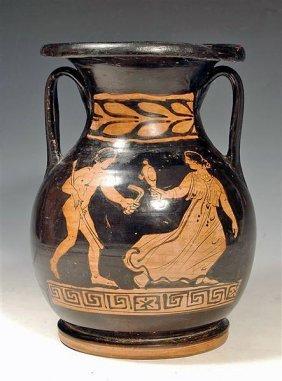 A Greek Red Figure Pelike