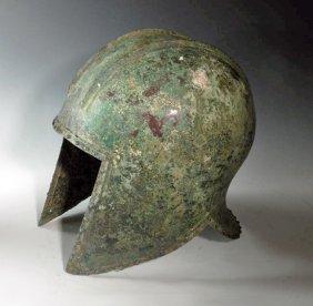 A Greek Bronze Helmet Of Illyrian Type