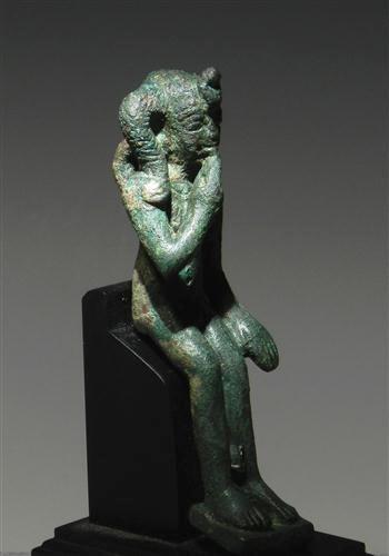 3: An Egyptian Bronze Harpokrates Figure