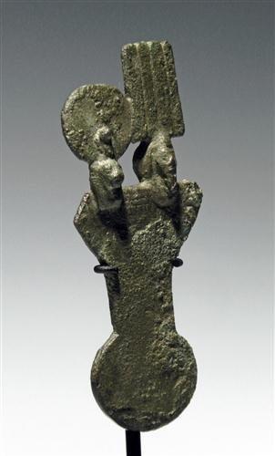 5: An Egyptian Bronze Menat - Deities Shu and Tefnut