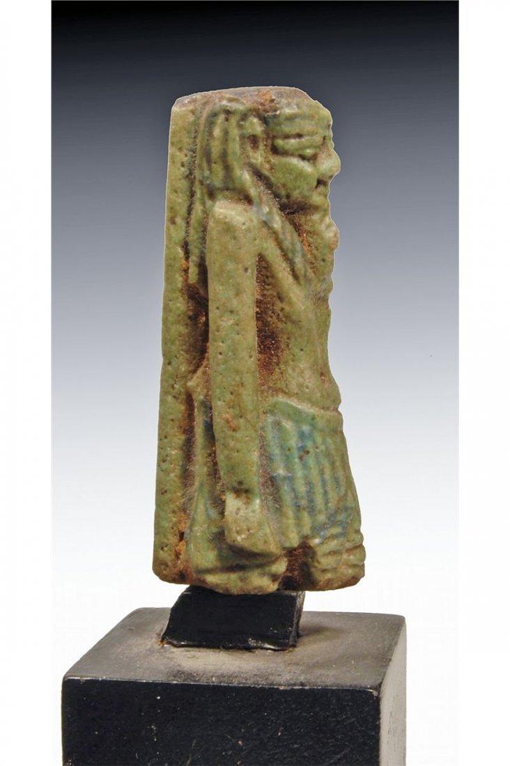 8: An Egyptian Green Faience Amulet of Nefertum
