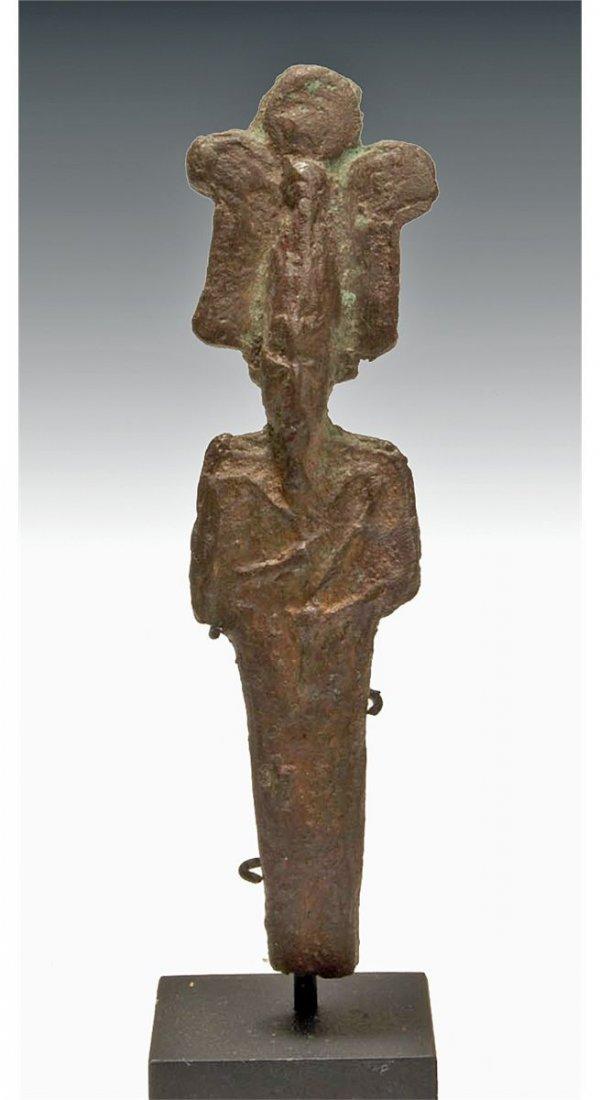 10: An Egyptian Bronze Miniature God Osiris