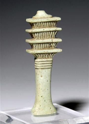 11: An Egyptian Faience Djed Pillar Amulet