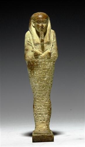 12: An Egyptian 26th Dynasty Faience Ushabti