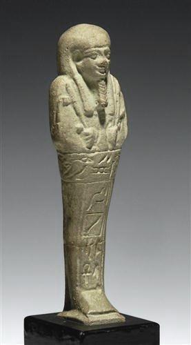 13: An Egyptian Glazed Faience Ushabti