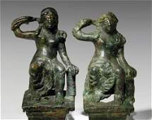 51 A Pair of Roman Bronze Chariot Fittings