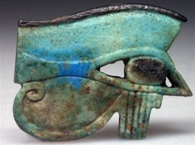 5: A HUGE Egyptian Faience Wedjat Eye, ex-Bonham's