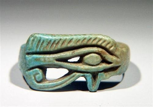 6: An Egyptian Openwork Amarna Ring with Wedjat Eye