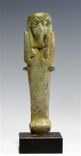 7: An Egyptian Green Faience Shabti