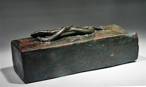 20: Egyptian Bronze Sarcophagus for Snake ex-Christie's