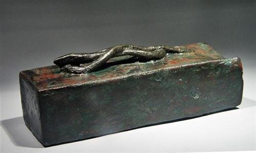 20: Egyptian Bronze Sarcophagus for Snake ex-Christie's