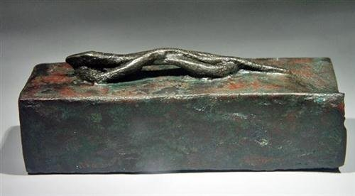 20: Egyptian Bronze Sarcophagus for Snake ex-Christie's - 6