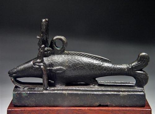 22: An Egyptian Bronze Oxyrhynchus Fish, ex-Christie's