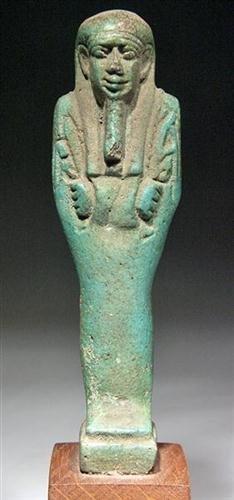 23: An Egyptian Green Glazed Shabti, ex-Bonham's