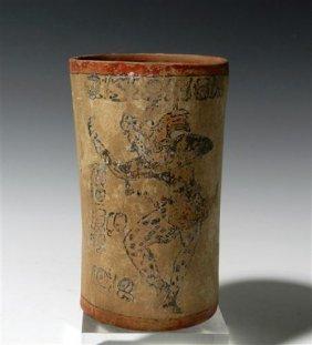 162: A Pre-Columbian Mayan Peten Cylinder