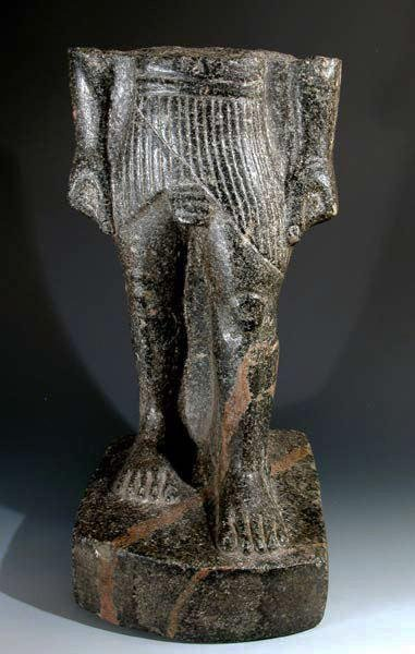 1: An Egyptian Granite Torso - The Striding King