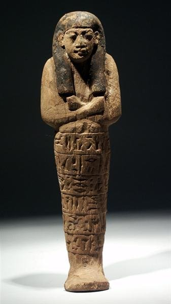2: A Large Egyptian New Kingdom Wood Shabti for Aset