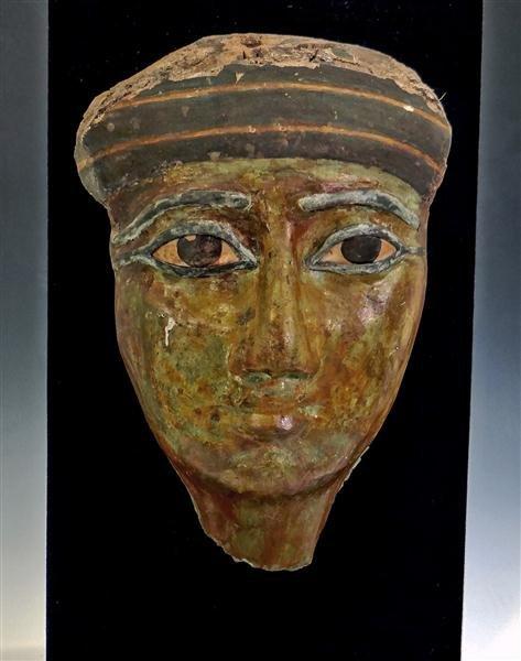 8: An Egyptian Cartonnage Anthropoid Mummy Mask
