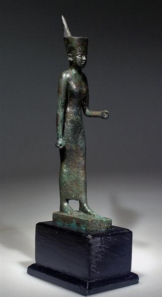 13: An Egyptian Bronze Statuette of the Goddess Neith