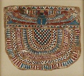 16: An Egyptian Cartonnnage Panel - Winged Scarab
