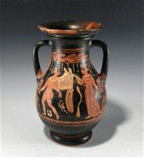 42: A Greek Apulian Red Figure Pelike Amphora