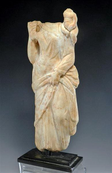 74: A Roman Marble Statuette of Fortuna