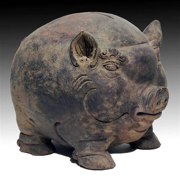 124: A Majapahit Pottery Bank, Pig Form
