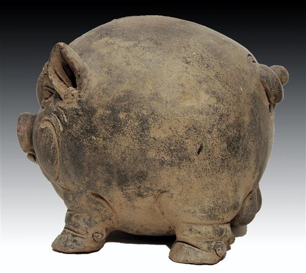 124: A Majapahit Pottery Bank, Pig Form - 5